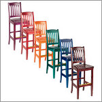 Bulldog Specialty Color Wood Bar Stool