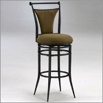 "Hillsdale Cierra Black Swivel 30"" Bar Stool"