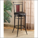 "Hillsdale Midtown 30"" Swivel Wood Back Bar Stool"
