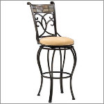 "Hillsdale - Pompei 24"" Swivel Counter Stool"