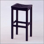 "Home Styles - 29"" Black Contour Stool"