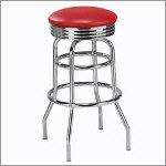 "Caracau 30"" Backless Metal Swivel Barstool"