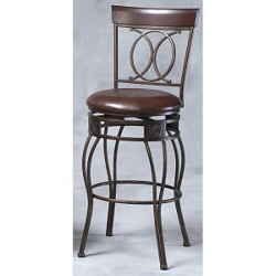 "24"" O & X Back Metal Counter Stool"