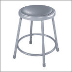 "Heavy Duty 18"" Vinyl Steel Stool"