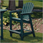 Adirondack Shell Back Outdoor Bar Chair