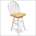 "24"" Windsor Arrowback Swivel Counter Stool"