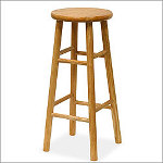 Winsome Basics Natural Finish Wood Barstool