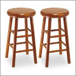 "Winsome 24"" Backless Swivel Counter Stool"