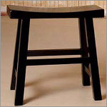 "24"" Black Saddle Stool"